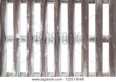 Wood fence isolated on white a backgrond