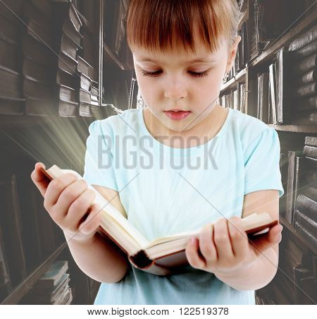 Child with magic book