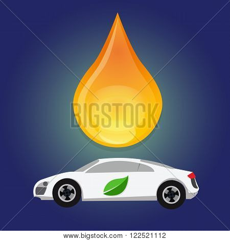 biofuel bio fuel ethanol green energy alternative oil gasoline car efficient fuel gas consumption droplet water drop vector