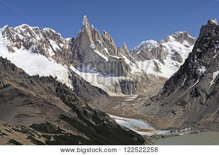 High Peaks of the Southern Andes in Los Glaciares National Park in Argentina