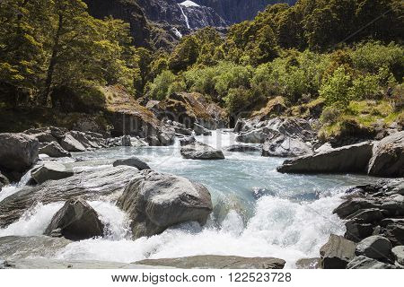 River landscape at the South Island New Zealand