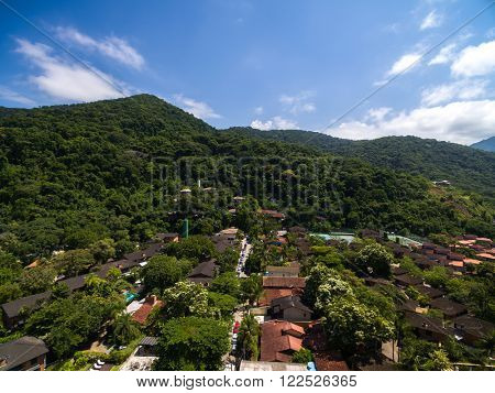 Aerial View of Hills in Sao Paulo, Brazil