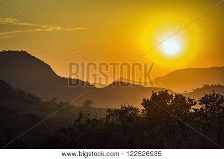 stunning sunrise in Kruger Park, South Africa