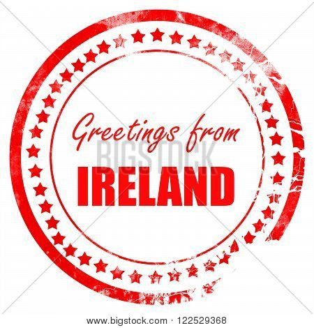 Greetings from ireland card with some soft highlights
