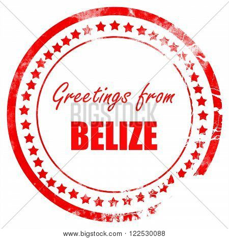 Greetings from belize card with some soft highlights