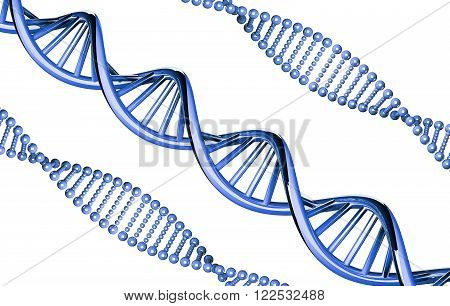 Blue DNA outstanding, dominant gene, isolated on white background