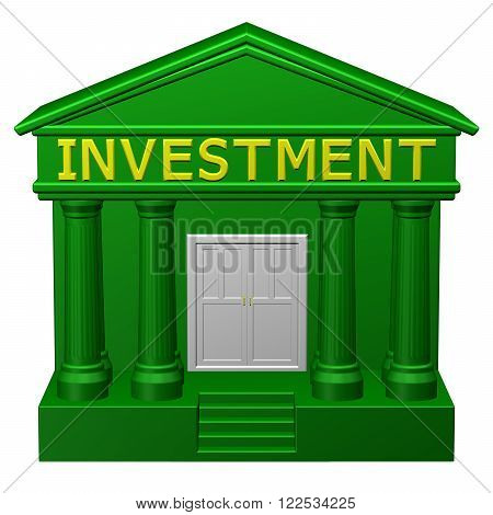 Concept : Investment isolated on white background. 3D render.