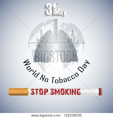 Illustration of Stop smoking for 31st May the World No Tobacco Day