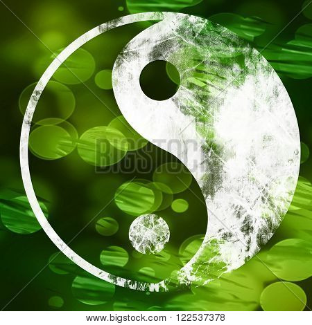 The yin and yang grass sign with some soft spots and highlights