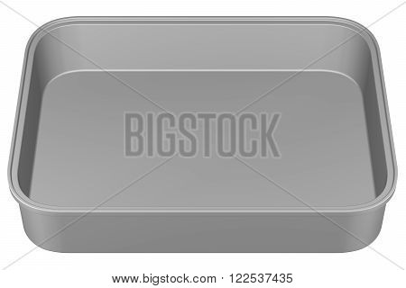 Kitchen pan isolated on white background. 3D render.