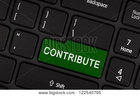 Laptop Keyboard - Contribute (green Key)