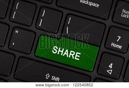Green Share Button