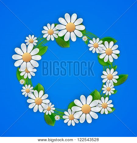 Floral background with daisy, daisy vector background summer and spring design. vector illustration