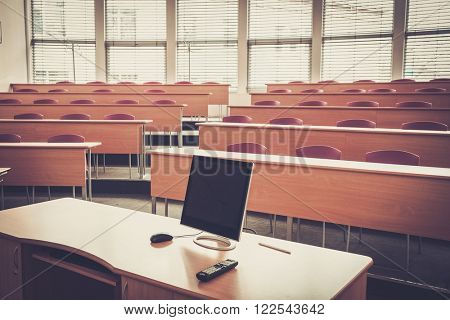 An empty college lecture hall in university.