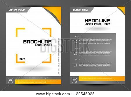 Template for brochures letters flyers etc. Concept design.