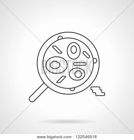 Mexican food dish flat thin line vector icon