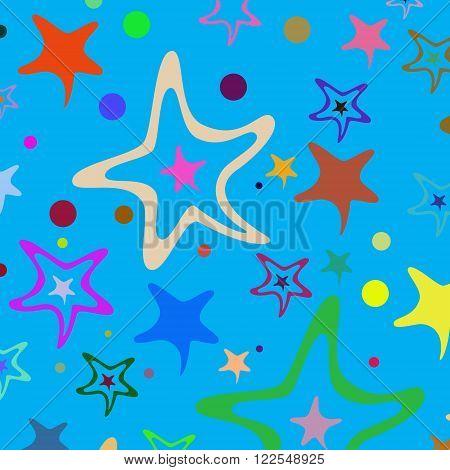 Seamless Pattern Stars 35