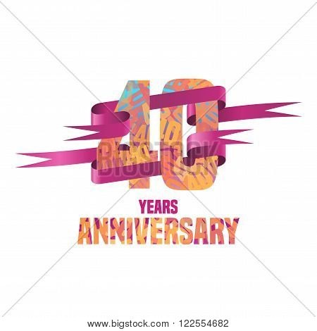 Vector logo for Forty years anniversary celebration