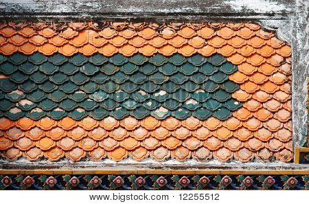 Aged roof detail