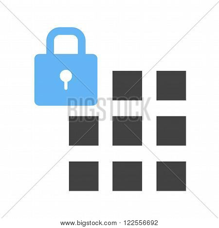 Passcode, security, lock icon vector image.Can also be used for security. Suitable for mobile apps, web apps and print media.