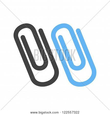 Clip, paper, attached icon vector image. Can also be used for stationery. Suitable for use on web apps, mobile apps and print media.