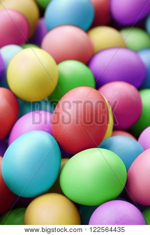 multi fresh color eggs for easter holiday