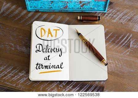 Business Acronym Dat As Delivery At Terminal