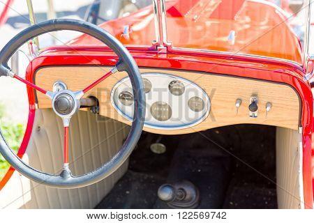 Rudder of vintage car