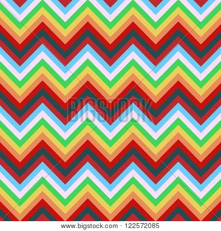 Simple texture colorful zig zag