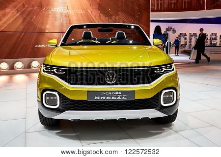 Geneva, Switzerland - March 1, 2016: presented on the 86th Geneva Motor Show in the PalExpo