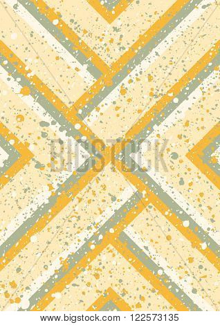 Abstract background. Geometric abstract vector background, pastel color. Modern and stylish abstract design poster, cover, card design. Hand drawn vintage texture, dots pattern and geometric elements
