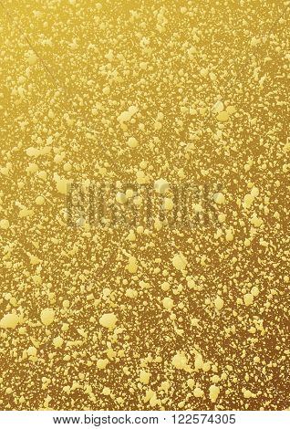Gold glitter background. Abstract vector pattern. Shiny packaging. Gold patina. Shiny gold background