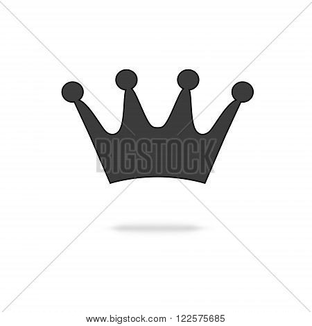 crown icon isolated on a white background