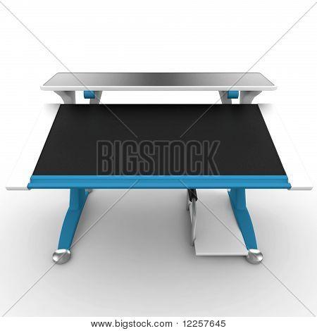 3D Office Desk Empty