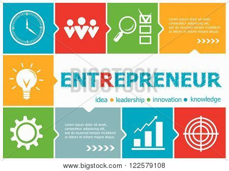 Entrepreneur Design Illustration Concepts For Business, Consulting, Management, Career.