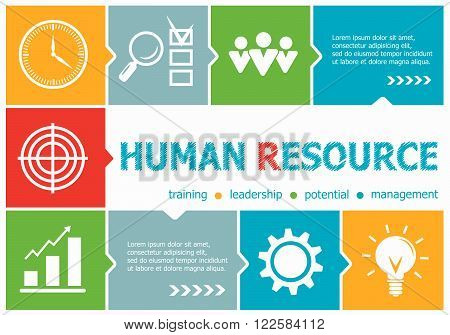 Human Resource Design Illustration Concepts For Business, Consulting, Management, Career.