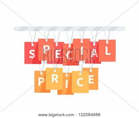 Special price badge design flat. Special offer, sale discount deal, best price, label, badge, offer special price vector illustration