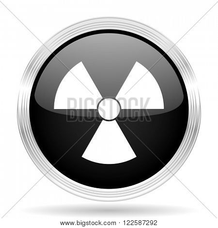 radiation black metallic modern web design glossy circle icon