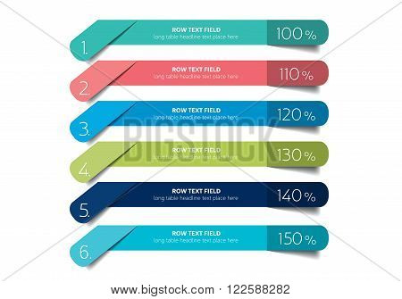Color flat tab, schedule, banner. Vector design.