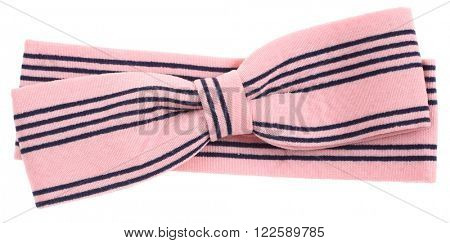 Hair bow tie pink with black stripes