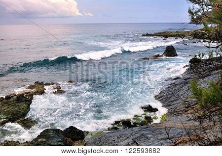 surging sea on coastline - Cap Corse -France