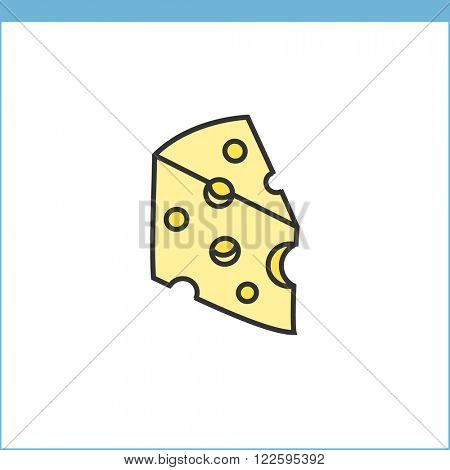 Cheese vector icon. Linear style