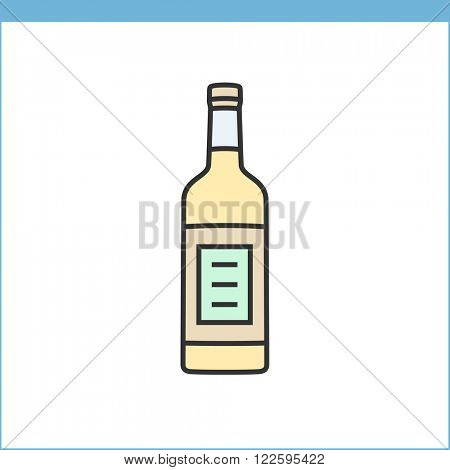 Bottle of wine icon. Procurement, storage tasting wine icon. Linear style