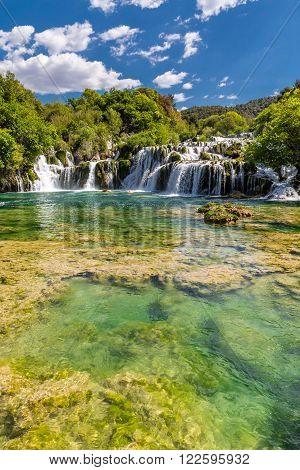 Beautiful Skradinski Buk Waterfall In Krka National Park - Dalmatia Croatia Europe