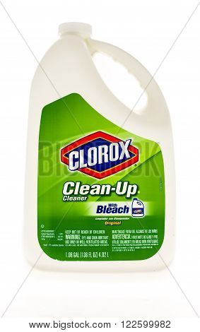 Winneconne WI - 20 April 2015: Refill bottle of Clorox Clean-Up Cleaner