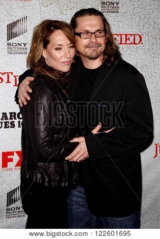 Kurt Sutter and Katey Sagal at the Premiere Screening of FX's