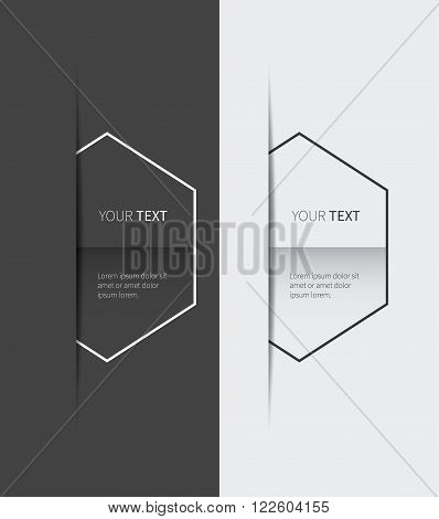 place your text in free space background presentation