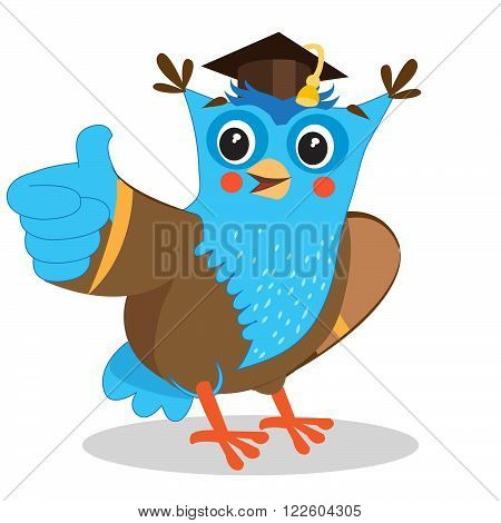 Cute Owl. Giving A Thumbs Up Sign. Cartoon Vector Illustrations. On A White Background. Thumbs Up. Thumbs Up Meme. Thumbs Up Emoticon. Thumbs Up Icon. Nice Owl. Owl Image. Best Owl.