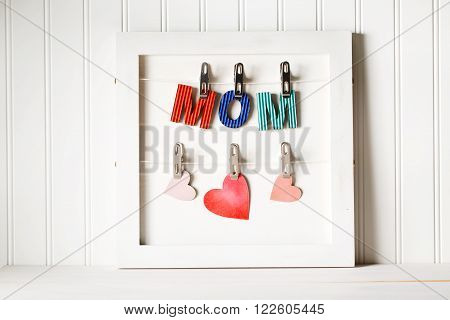 Colorful Paper Mom Letters