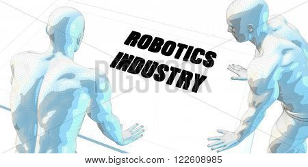 Robotics Industry Discussion and Business Meeting Concept Art